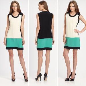 Shoshanna Silk Colorblock Dress